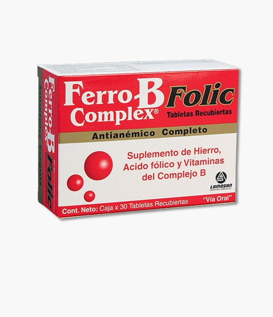 Ferro B Complex Folic Tabletas